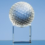 SY1044 – 8cm Optical Crystal Golf Ball on Clear Base